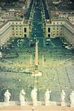 Vatican City. Apostolic Palace, St. Peter's Square view from Michelangelo's dome Stock Photos
