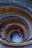 VATICAN City 18 April 2015: Spiral stairs of the Vatican Museums in Vatican, Rome, Italy Stock Photos