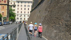 VATICAN CITY, AUGUST 2015: historical walls stock video footage