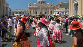 VATICAN CITY, AUGUST 2015: latin festival view stock footage