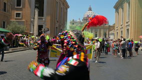 VATICAN CITY, AUGUST 2015: latin festival view stock video footage