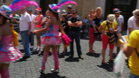 VATICAN CITY, AUGUST 2015: latin festival view stock video