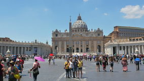 VATICAN CITY, AUGUST 2015: people visiting day time stock video