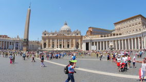 VATICAN CITY, AUGUST 2015: people visiting day time stock video footage