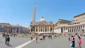VATICAN CITY, AUGUST 2015: people visiting day time stock footage