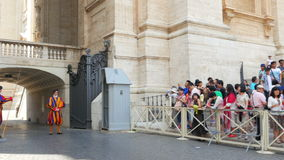 VATICAN CITY, AUGUST 2015: swiss guards of pope stock video