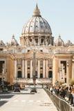Vatican City, Basilica of Saint Peter. Via della Conciliazione in Rome, Italy. Royalty Free Stock Photography