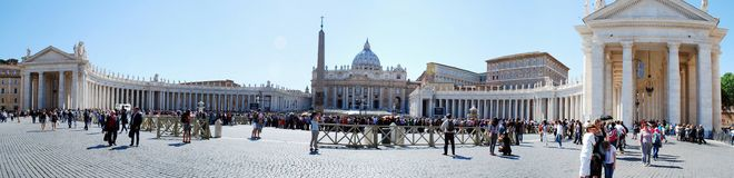 Vatican city center life on May 30, 2014 Royalty Free Stock Photos