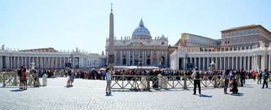 Vatican city center life on May 30, 2014 Royalty Free Stock Photo