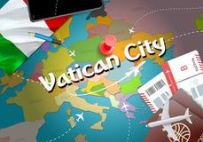 Vatican City city travel and tourism destination concept. Italy vector illustration