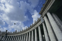 Vatican city colonnades Stock Images