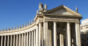 Vatican city colonnades. Bernini's Colonnade at the Piazza St. Peter's, Vatican - Rome Royalty Free Stock Image
