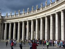 Vatican City Columns Royalty Free Stock Photography