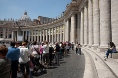 Vatican City crowd. Stock Photography