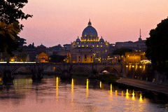 Vatican City at Dusk Royalty Free Stock Photo