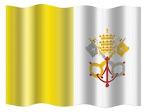 Vatican City flag Royalty Free Stock Photography