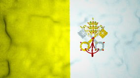 Vatican City Flag Seamless Video Loop stock footage