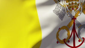 Vatican City flag waving in the wind. Looping sun. Rises.  Animation loop stock video