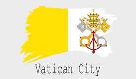 Vatican City flagga på vit bakgrund royaltyfri illustrationer