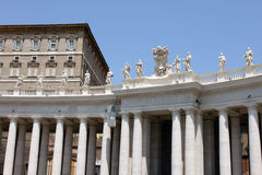 Vatican city. Fragments of the Papal Basilica of St. Peter. Basilica. St. Peter's Square royalty free stock images
