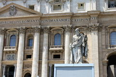 Vatican city. Fragments of the Papal Basilica of St. Peter. Basilica. St. Peter's Square royalty free stock photography