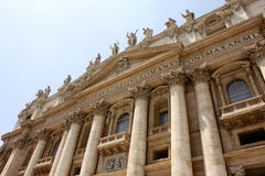 Vatican city. Fragments of the Papal Basilica of St. Peter. Royalty Free Stock Photo