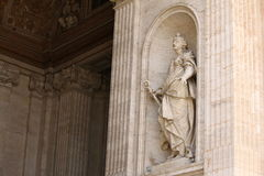 Vatican city. Fragments of the Papal Basilica of St. Peter. Stock Photos