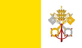 Vatican City Holy See Flag stock image
