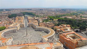 Vatican City, Iitaly. Panorama di Roma, view of the city stock video