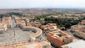 Vatican City, Iitaly. Panorama di Roma, view of the city.  stock video