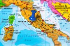 Vatican City Italy map Stock Photos