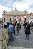Pope installation Royalty Free Stock Photo
