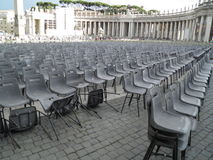 Audience empty seats Royalty Free Stock Photo