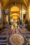 Vatican city Museum. Gallery at the Vatican Museum in the Vatican City, Rome, Italy Stock Photos