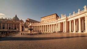 Vatican City och Rome, Italien: Sts Peter fyrkant arkivfoto