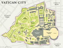 Vatican City Political Map Royalty Free Stock Image