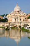 Vatican City from Ponte Umberto I in Rome, Italy Stock Photos