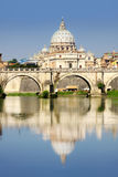 Vatican City from Ponte Umberto I in Rome, Italy Royalty Free Stock Images
