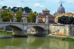 Vatican City from Ponte Umberto I in Rome, Italy Royalty Free Stock Photography