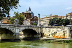 Vatican City from Ponte Umberto I in Rome, Italy Stock Photo