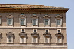 Vatican City. The Pope's window from which he delivers the angelus. Stock Photos