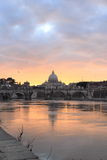 Vatican city reflected on Tiber river Stock Photos