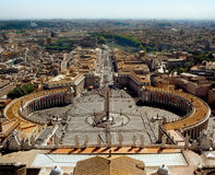 Vatican city and Rome. Great Skyline. Sunny  afternoon. Beautiful sight. Great city Stock Photography
