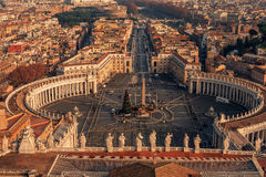 Vatican City and Rome, Italy: St. Peter's Square Royalty Free Stock Photos
