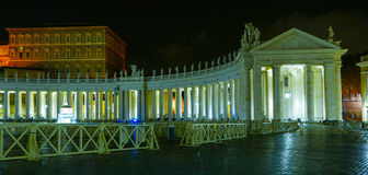 Vatican City in Rome by night with a view over St Peters Basilica Royalty Free Stock Photo