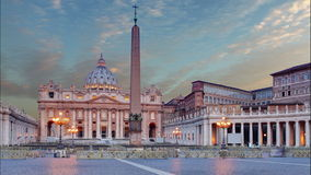 Vatican city, Rome. Time lapse stock footage