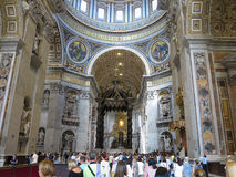 19.06.2017, Vatican City: Saint Paul`s Cathedral interior with c Royalty Free Stock Photography