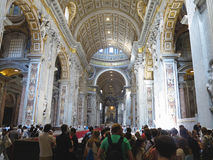 19.06.2017, Vatican City: Saint Paul`s Cathedral interior with c Royalty Free Stock Photos