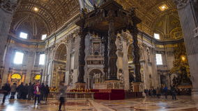 Vatican City Saint Pietro Basilica. Italy Time Lapse Series 2014 stock video