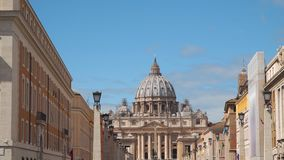 Vatican City. St. Peter`s Basilica.  stock video